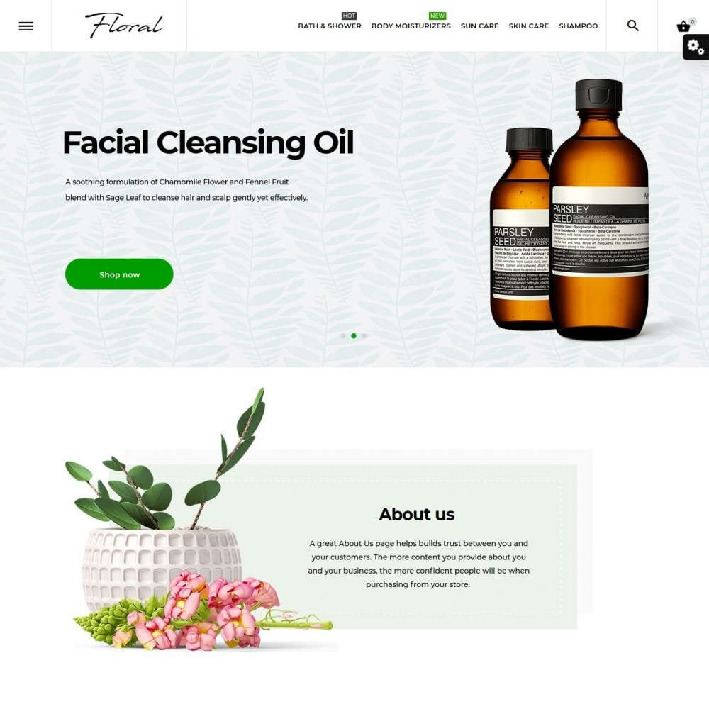 theme - Health & Beauty - Floral Cosmetics - 2