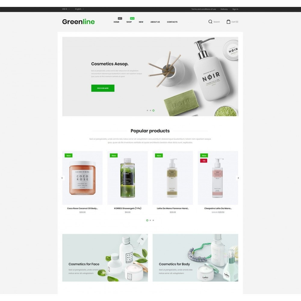 theme - Health & Beauty - Greenline Cosmetics - 2