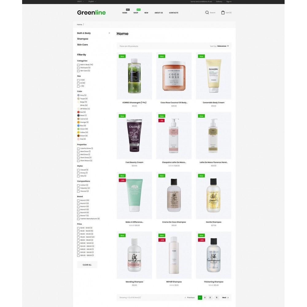 theme - Health & Beauty - Greenline Cosmetics - 5