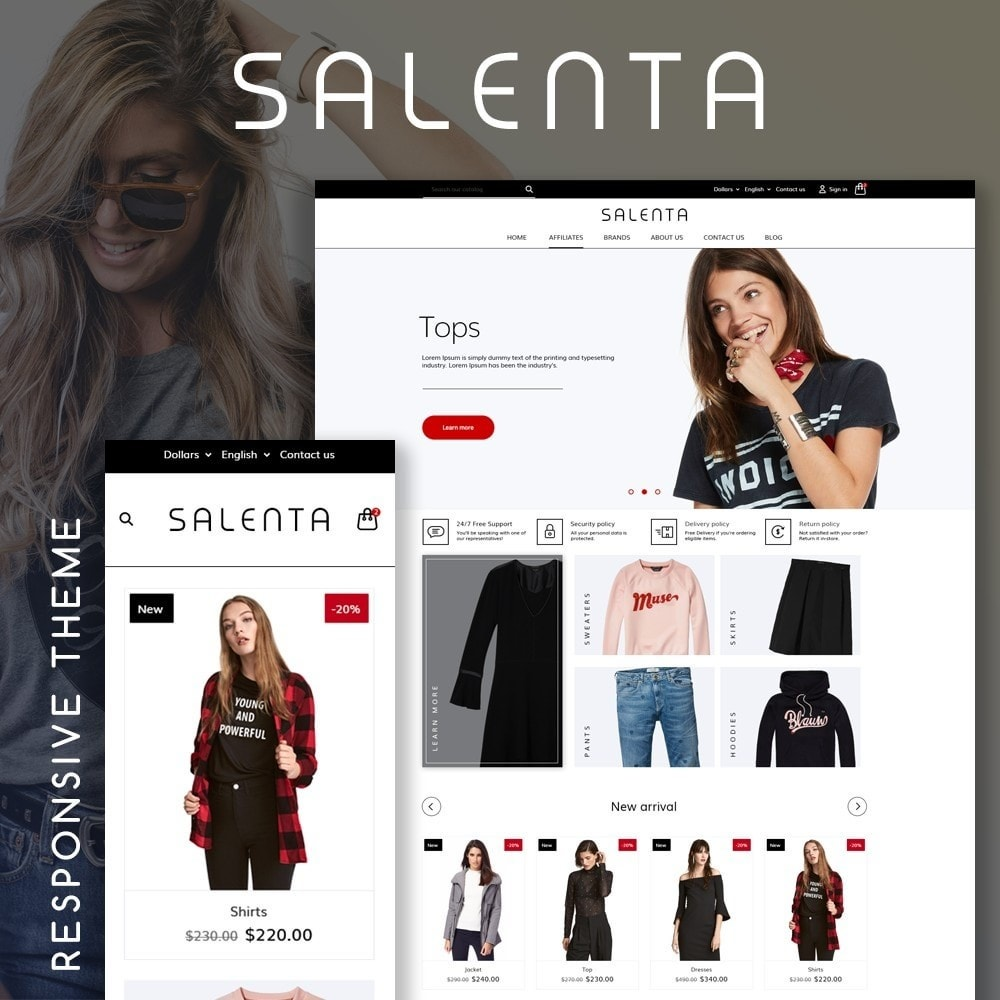 theme - Fashion & Shoes - Salenta Fashion Store - 1
