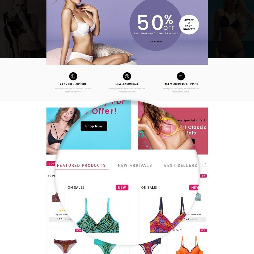 theme - Lingerie & Adulti - Flyzone Lingerie Store - 6