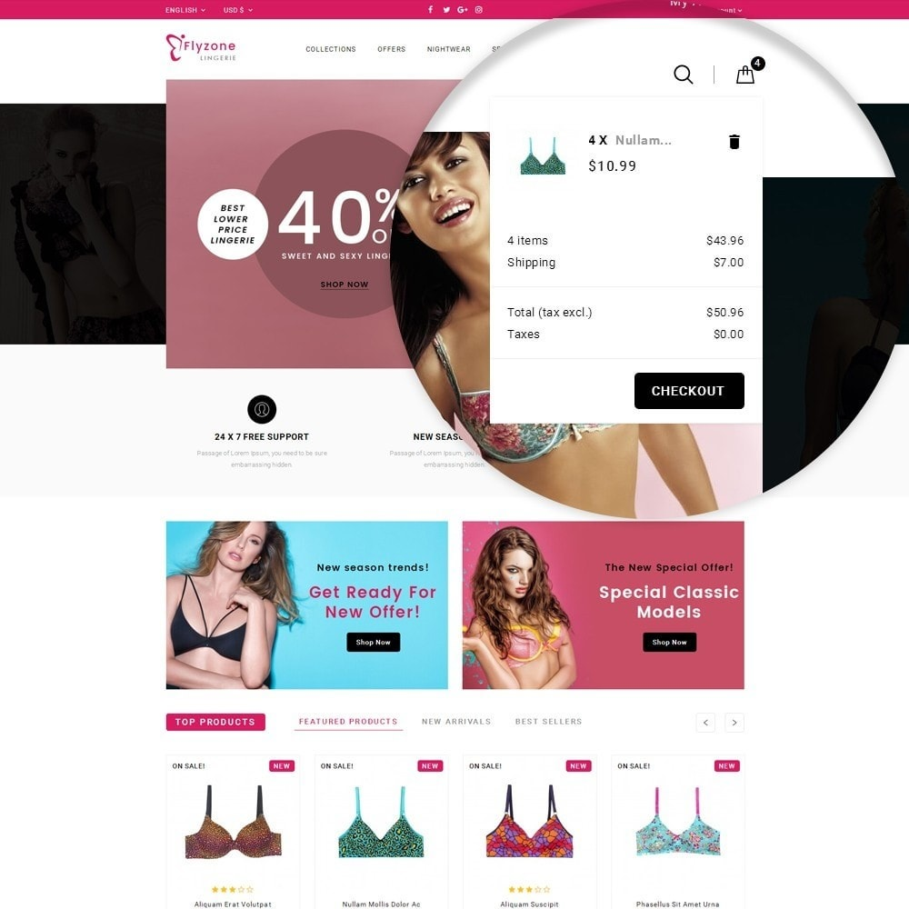 theme - Lingerie & Adulti - Flyzone Lingerie Store - 7