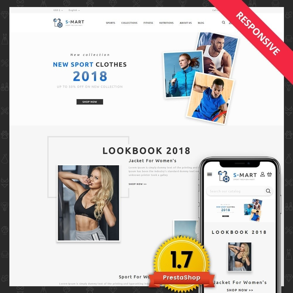 theme - Мода и обувь - Shop Mart Sports Fashion - 1