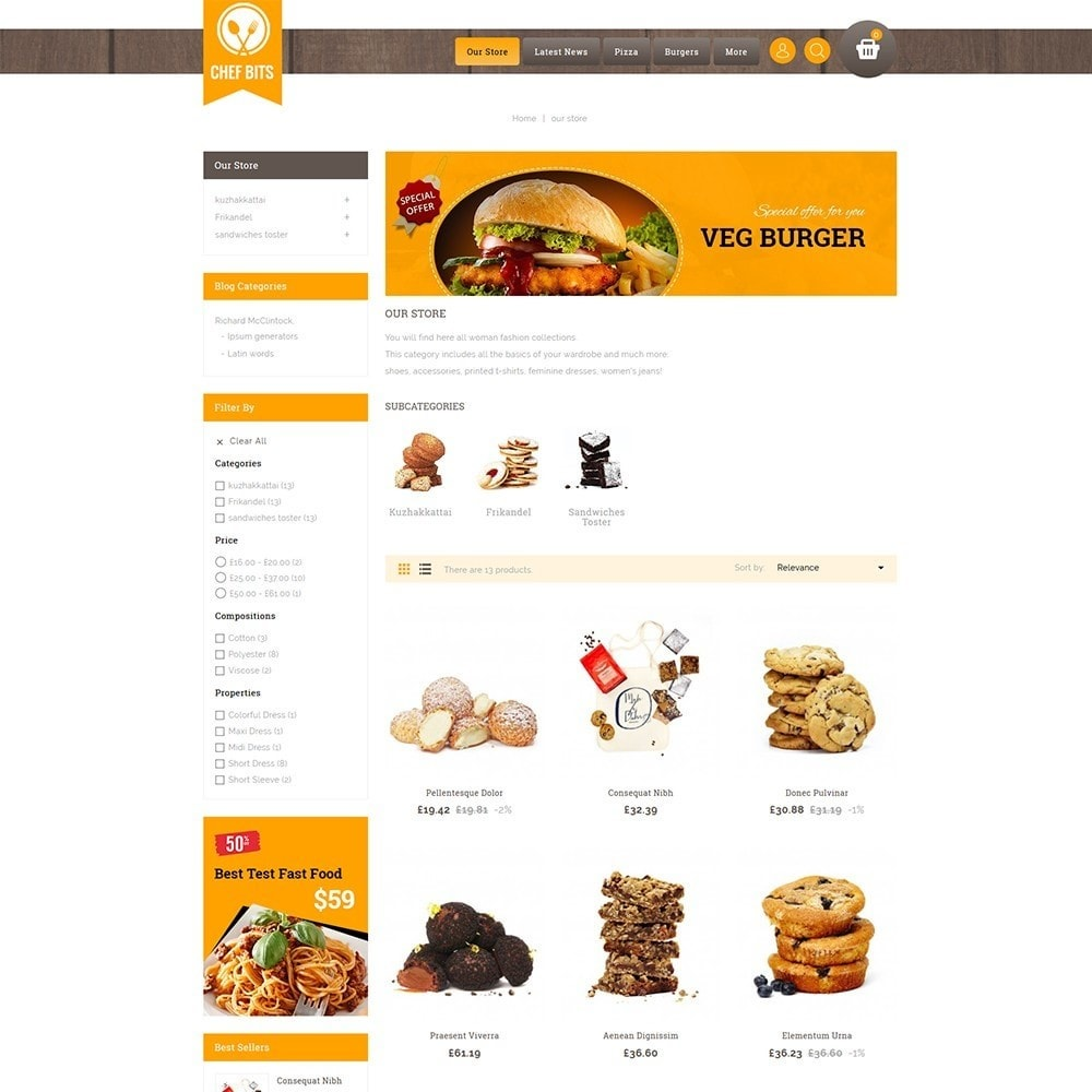 theme - Alimentation & Restauration - Chefbits Foot Store - 4
