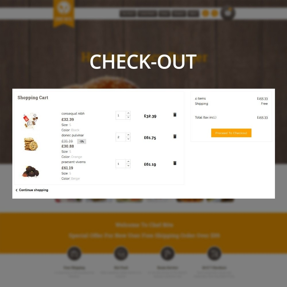 theme - Alimentation & Restauration - Chefbits Foot Store - 10