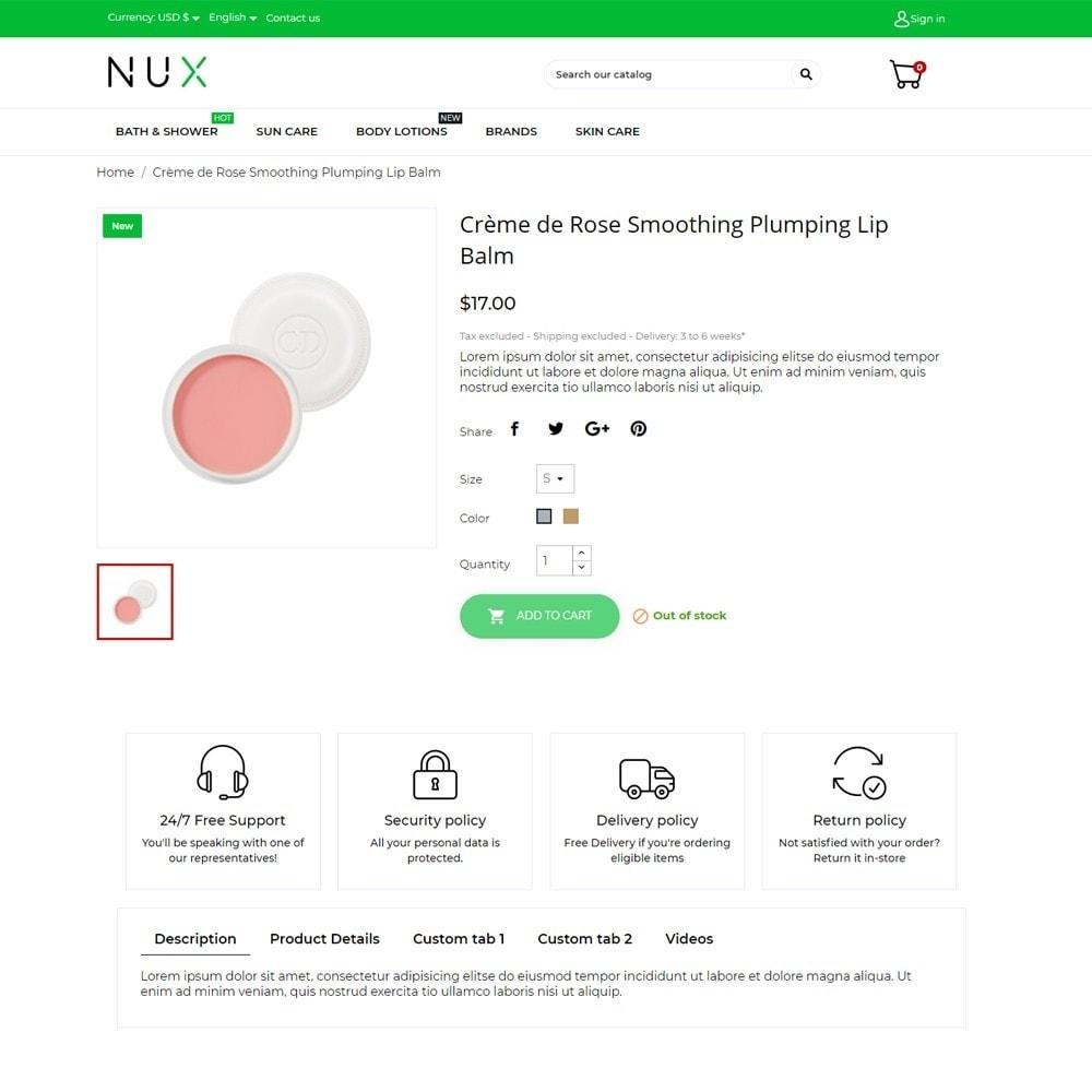 theme - Santé & Beauté - Nux Cosmetics - 5