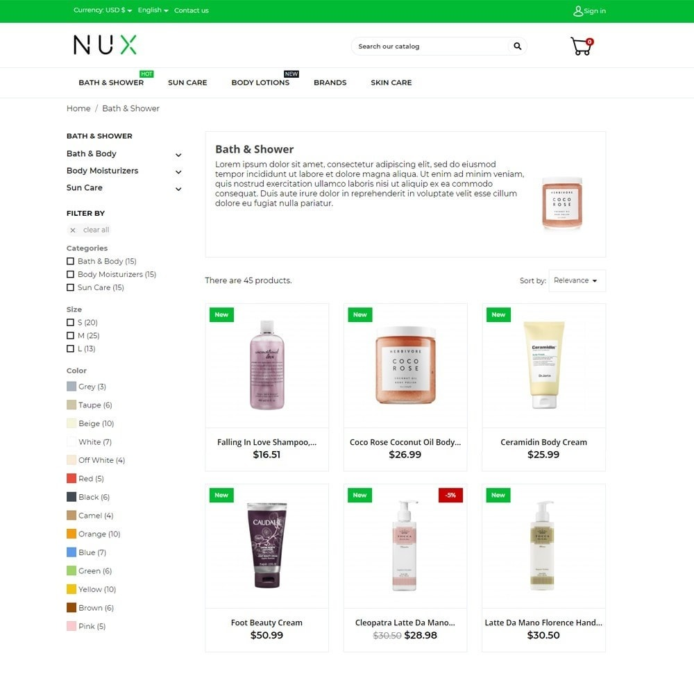 theme - Health & Beauty - Nux Cosmetics - 6