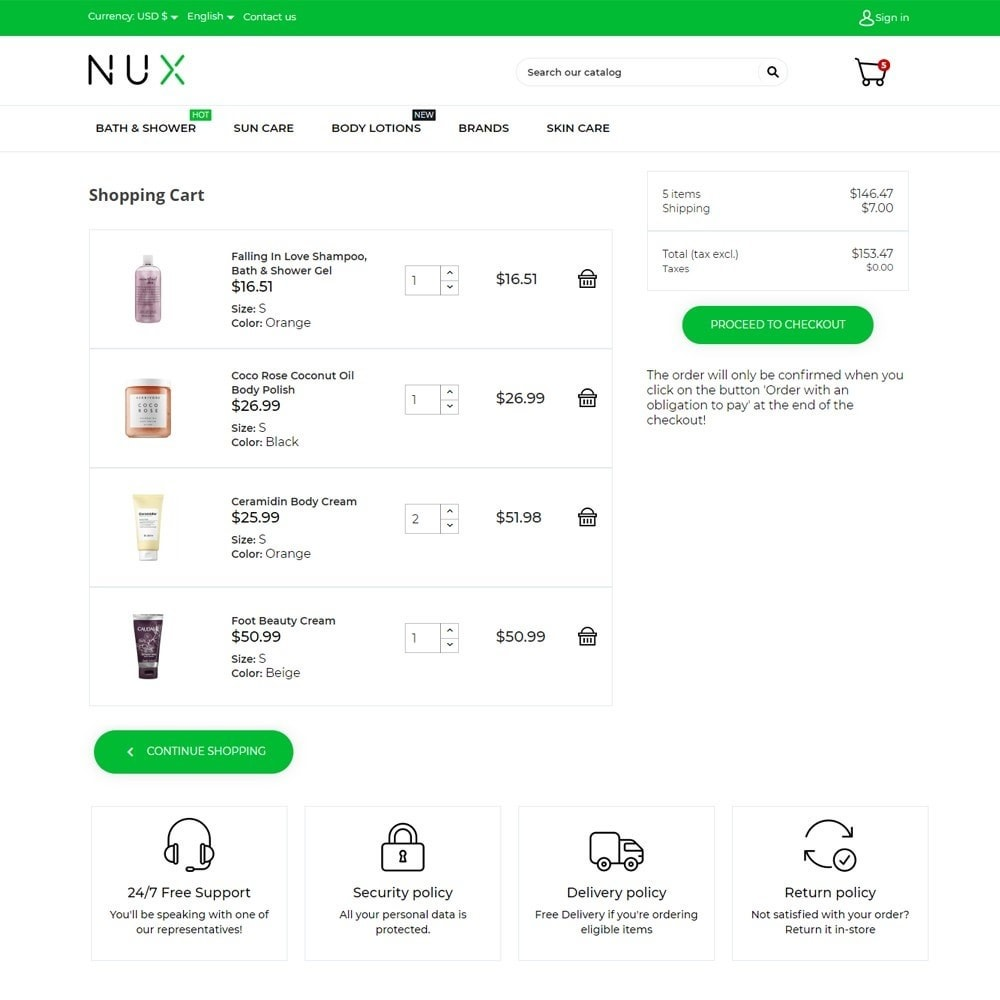 theme - Health & Beauty - Nux Cosmetics - 7