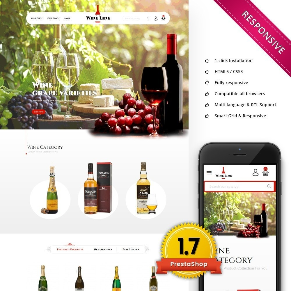 theme - Drink & Wine - Wineline - Alcohol Shop - 1