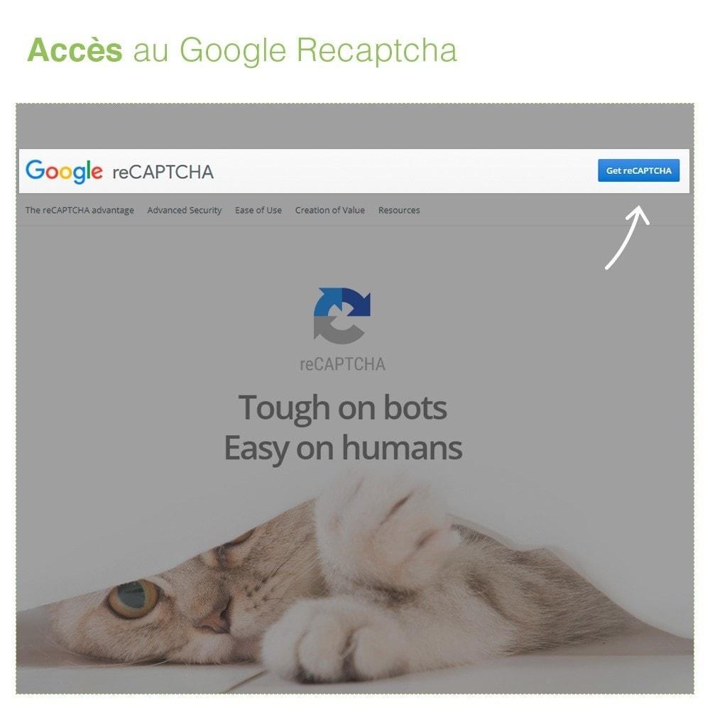 module - Sécurité & Accès - reCaptcha Formulaire de contact - Protection Anti spam - 3