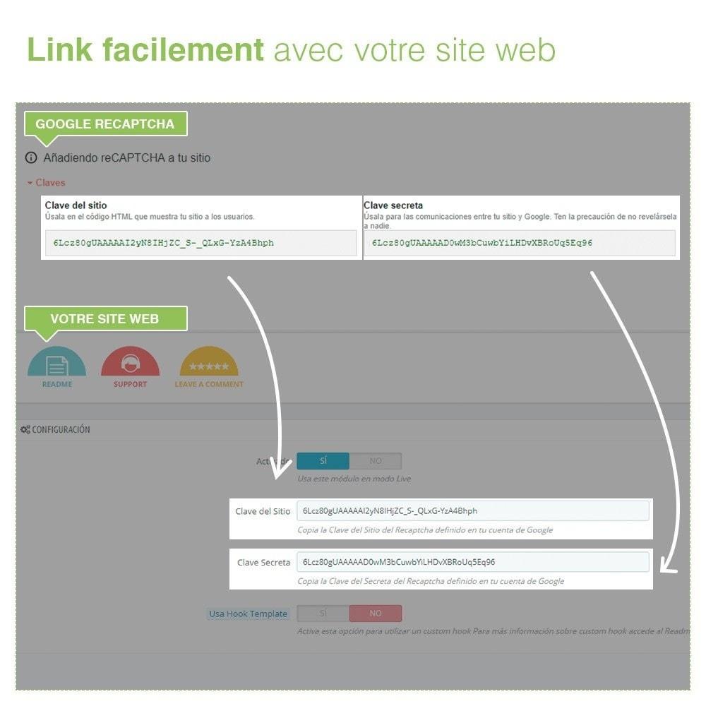 module - Sécurité & Accès - reCaptcha Formulaire de contact - Protection Anti spam - 5