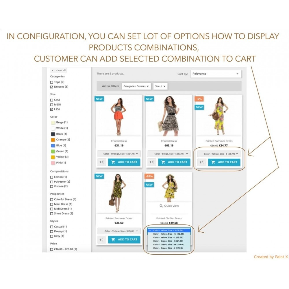 module - Combinations & Product Customization - Show Combinations Or Product Attributes In Product List - 2