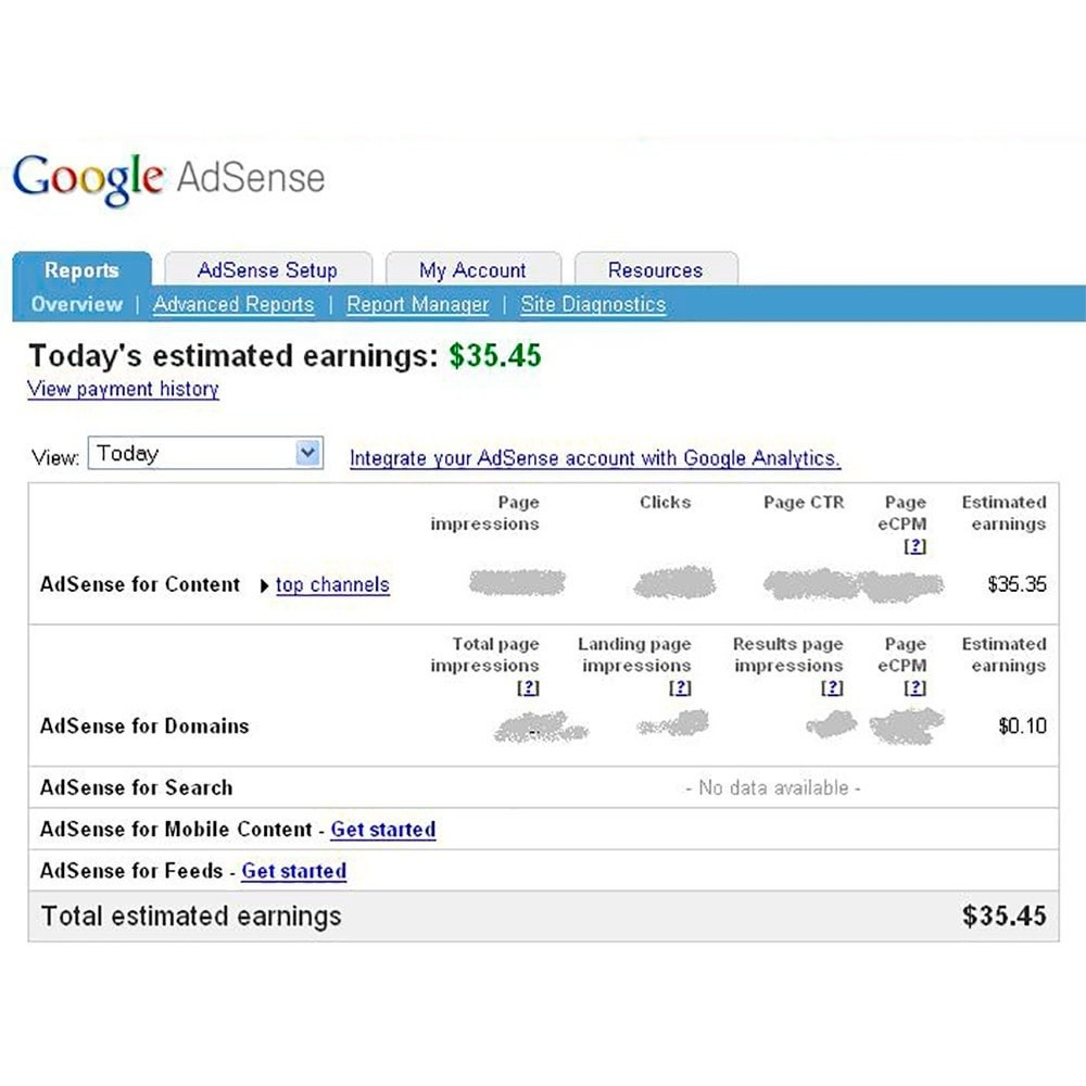 module - Analytics & Statistics - Integration Google AdSense - 4