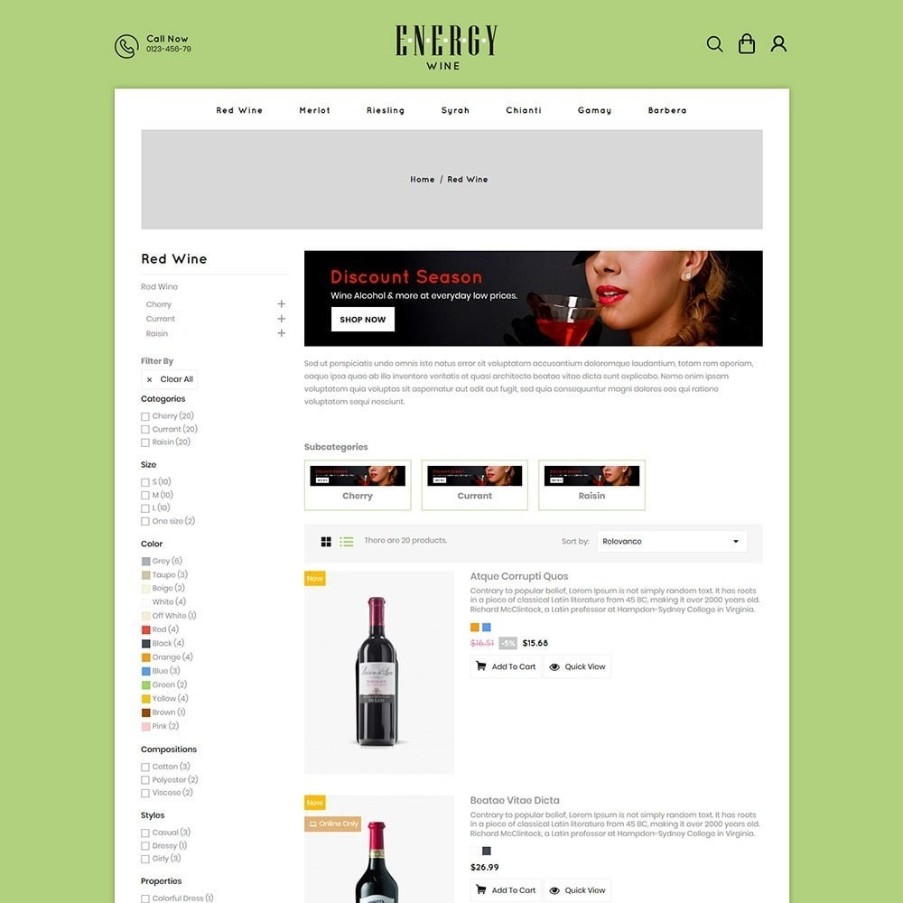 theme - Boissons & Tabac - Energywine - Wine Online Store - 4