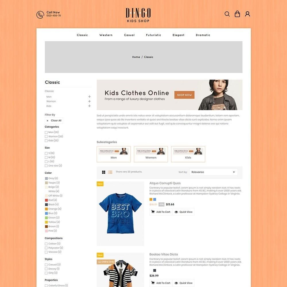 theme - Kids & Toys - Dingo - Kidswear Online Store - 4