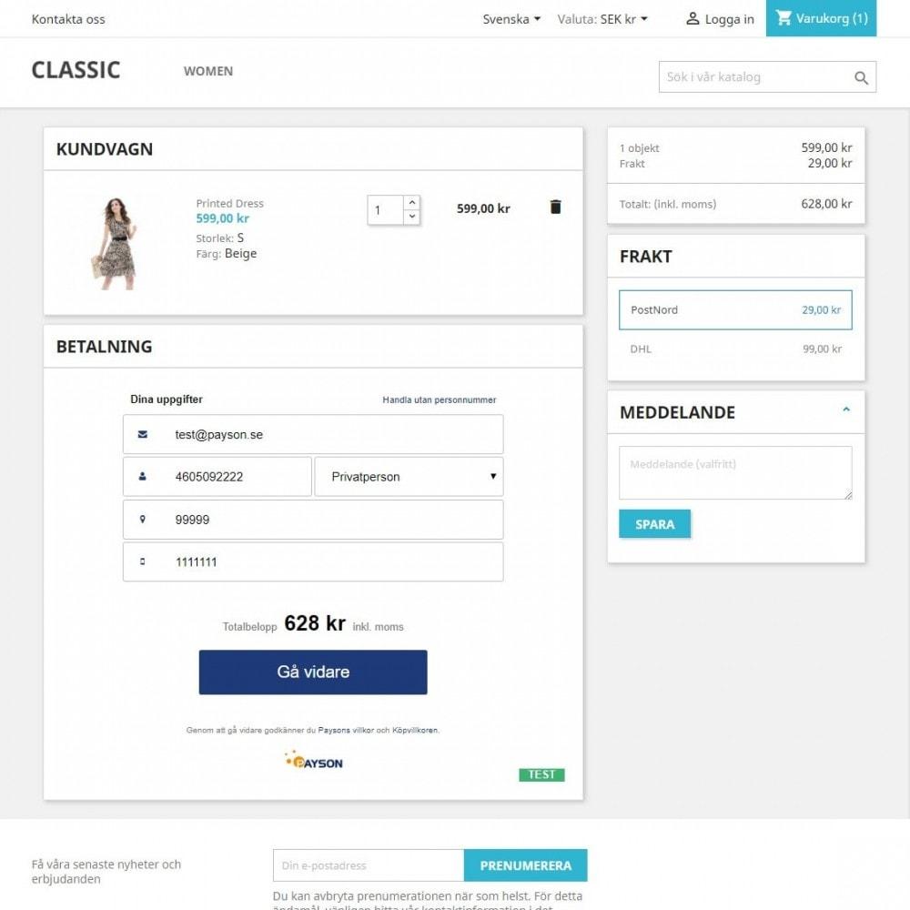 module - Szybki proces składania zamówienia - Payson Checkout 2.0 - 1