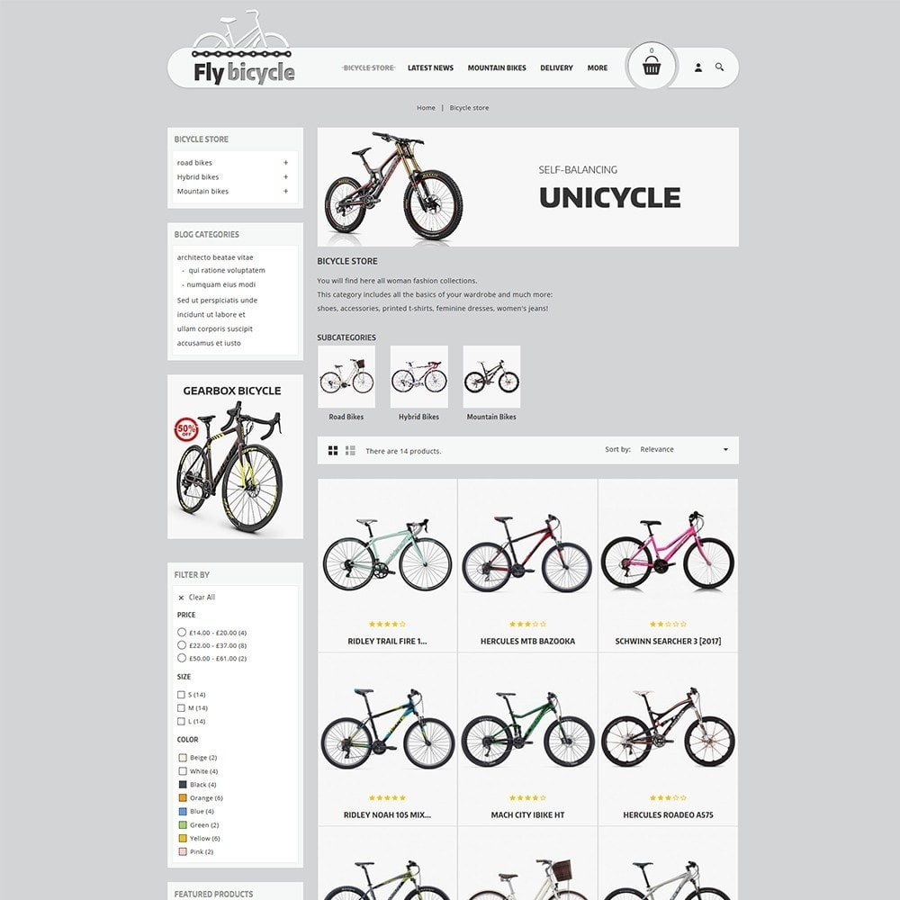 theme - Auto & Moto - Flybicycle Store - 4