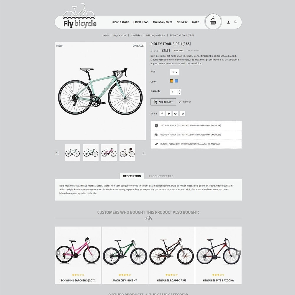 theme - Automotive & Cars - Flybicycle Store - 6