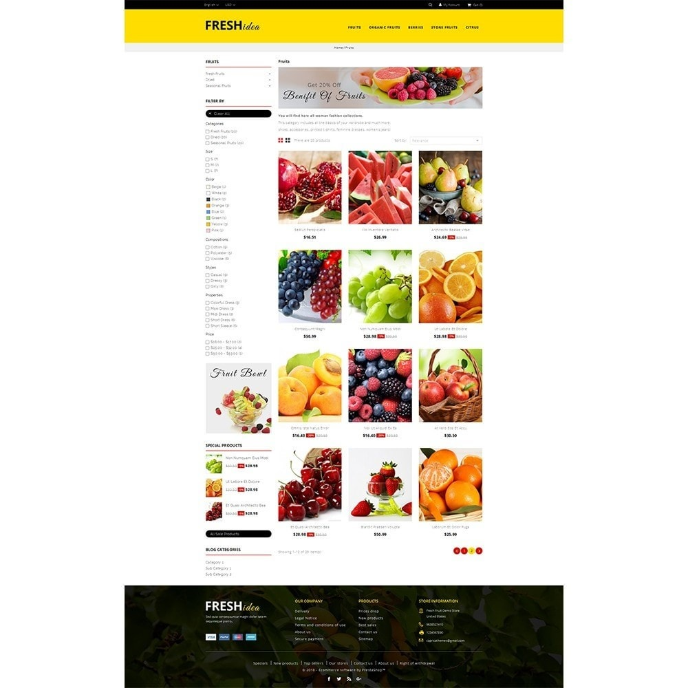 theme - Lebensmittel & Restaurants - Fresh Fruit Store - 3