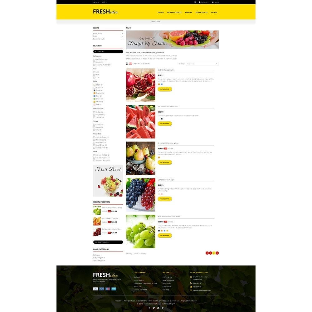 theme - Alimentation & Restauration - Fresh Fruit Store - 4