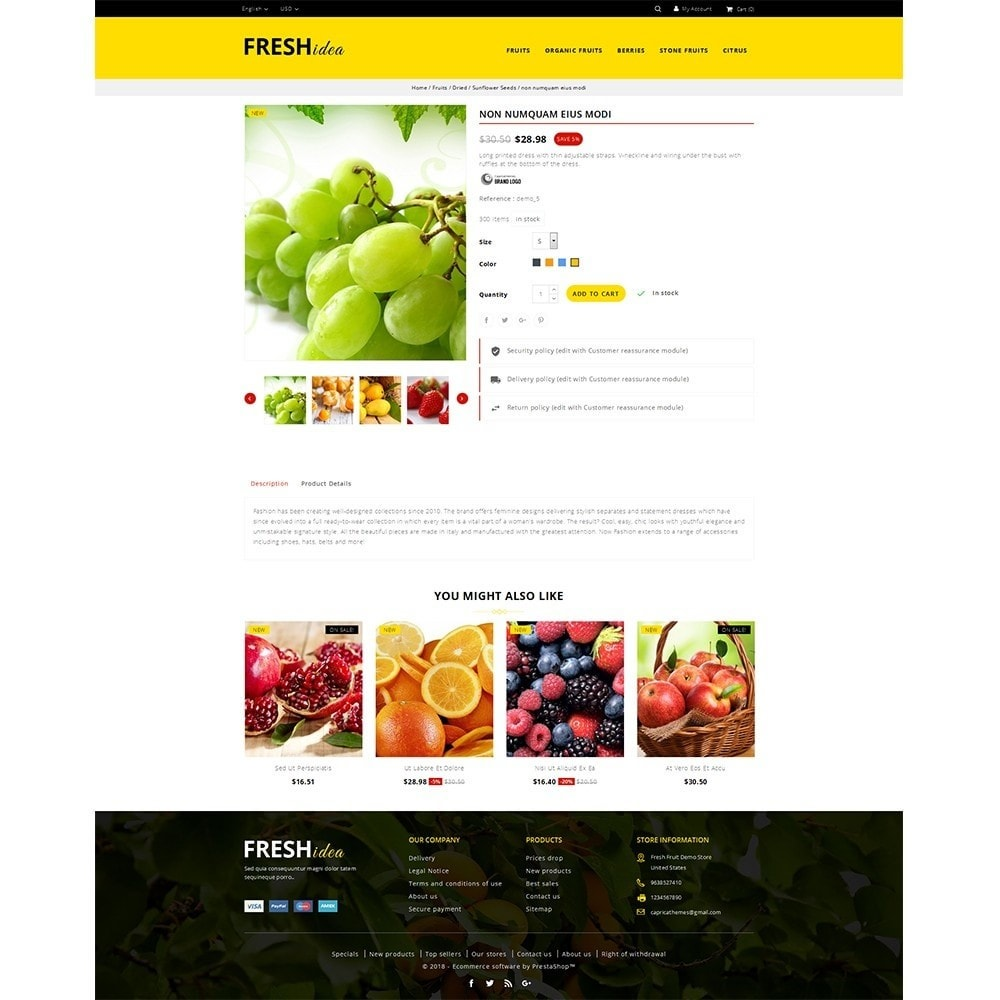 theme - Lebensmittel & Restaurants - Fresh Fruit Store - 5
