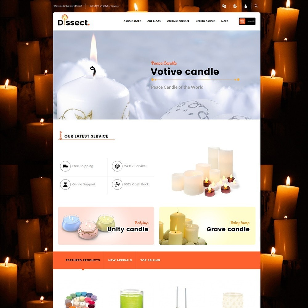 theme - Дом и сад - Dissect Candle Store - 2