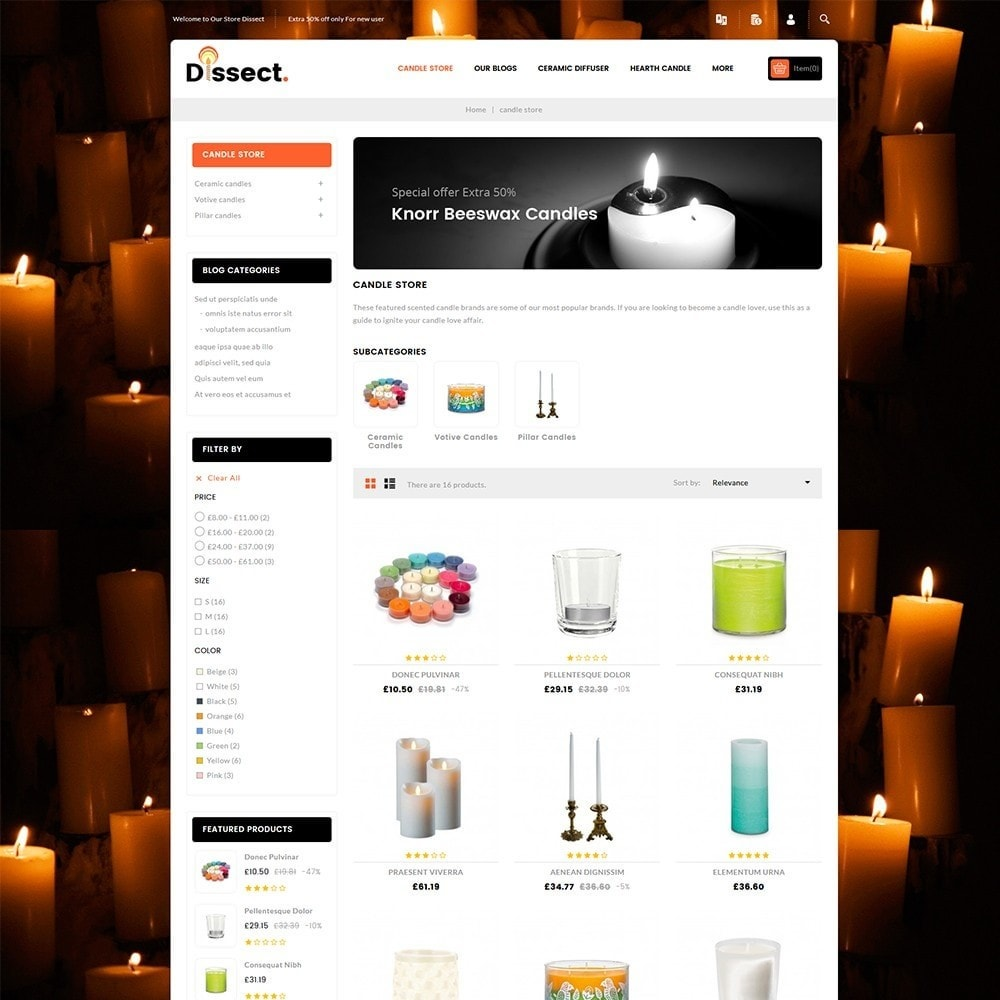 theme - Дом и сад - Dissect Candle Store - 4