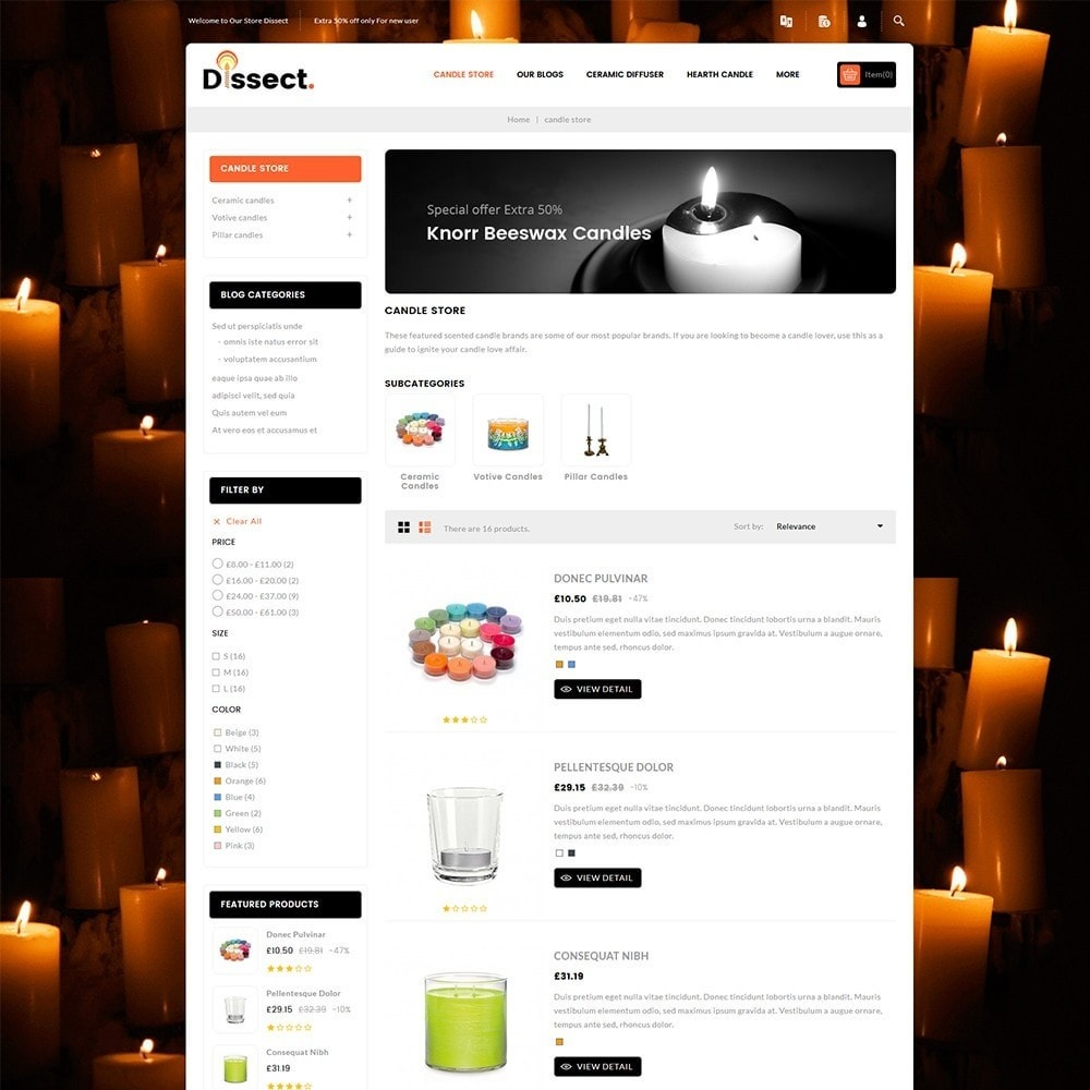 theme - Dom & Ogród - Dissect Candle Store - 5