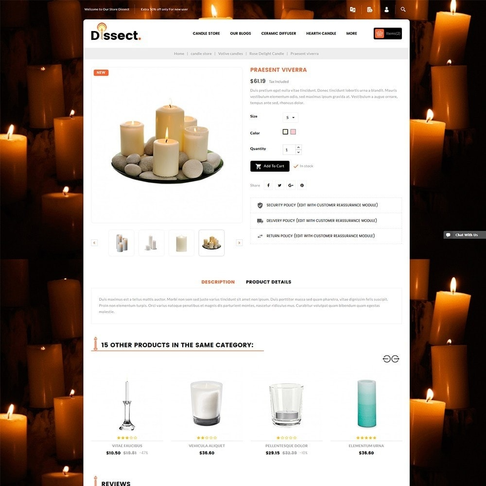 theme - Home & Garden - Dissect Candle Store - 6