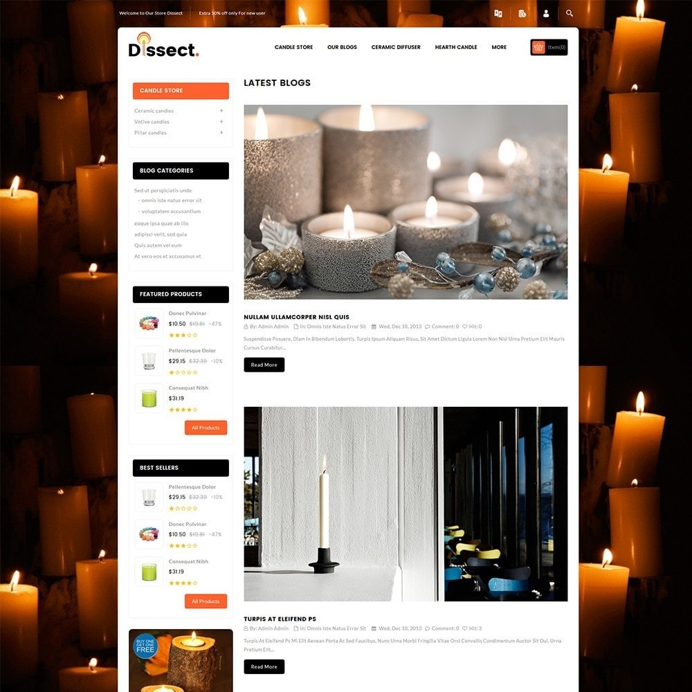 theme - Dom & Ogród - Dissect Candle Store - 7