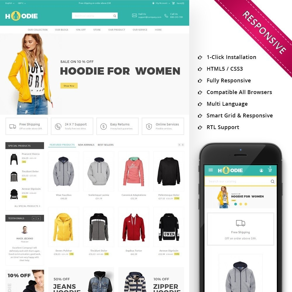 theme - Fashion & Shoes - Hoodie Fashion Store - 1