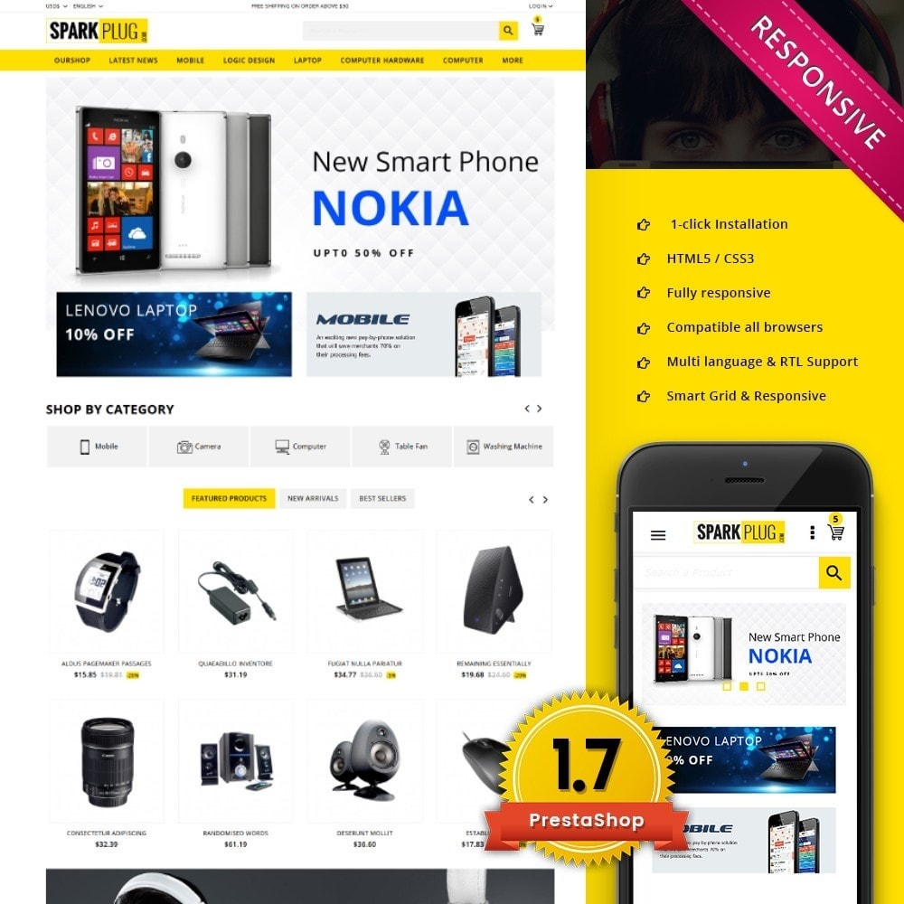 theme - Elektronik & High Tech - Sparkplug - Electronic Store - 1