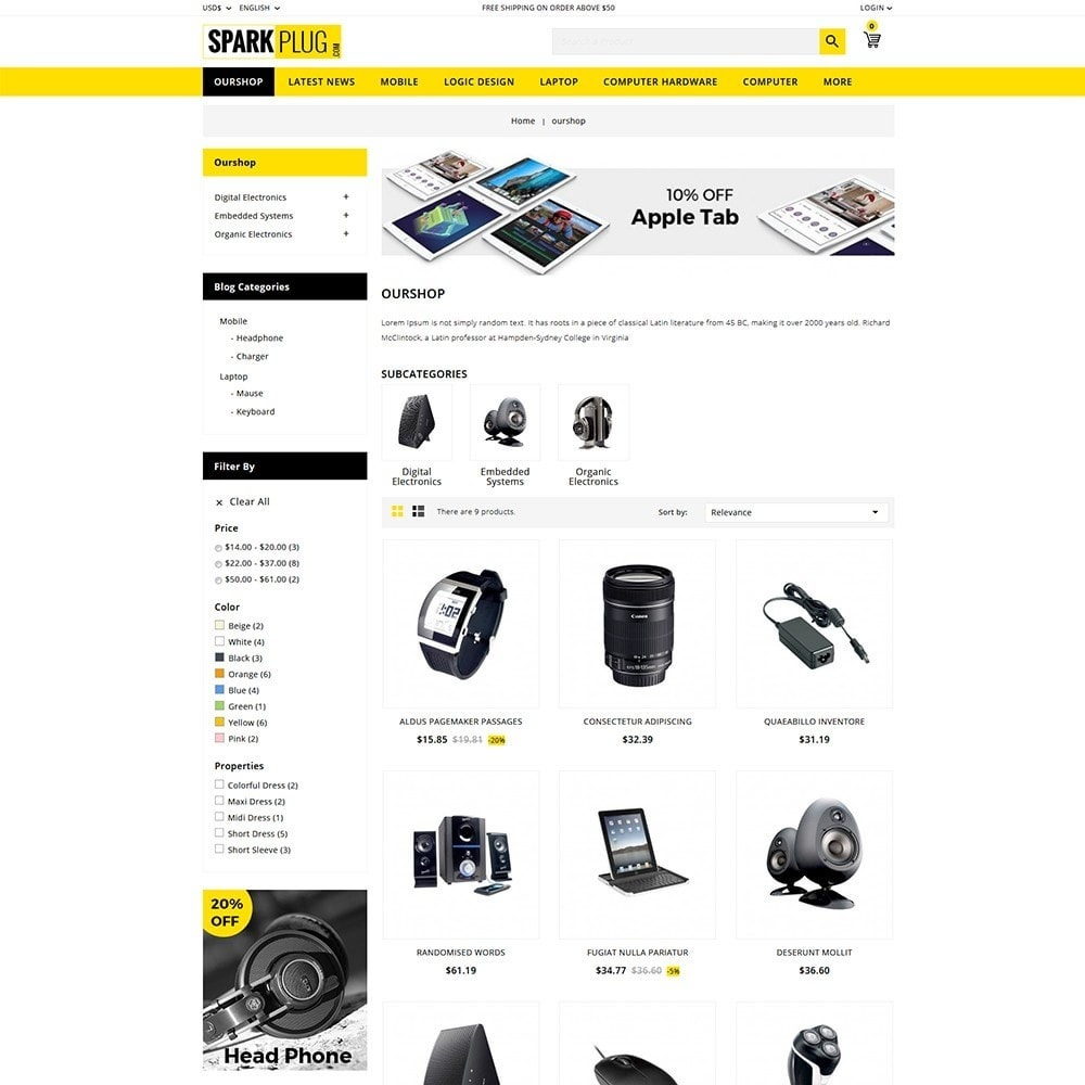 theme - Elettronica & High Tech - Sparkplug - Electronic Store - 4