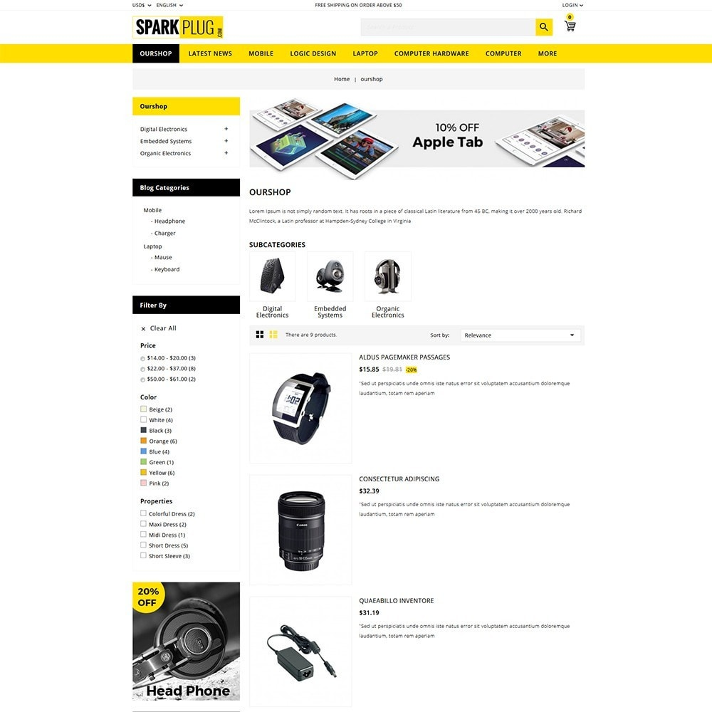 theme - Elettronica & High Tech - Sparkplug - Electronic Store - 5