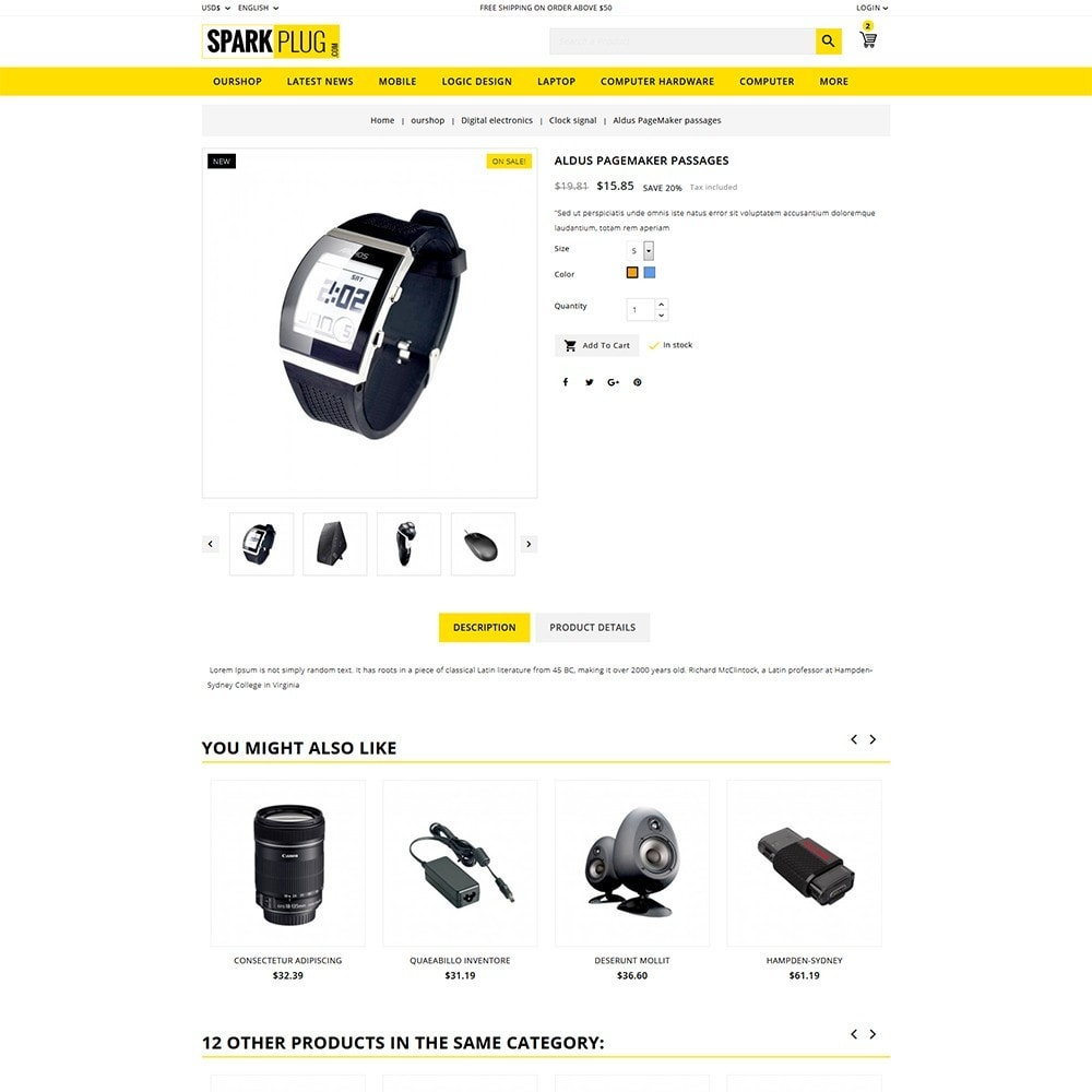 theme - Electrónica e High Tech - Sparkplug - Electronic Store - 6