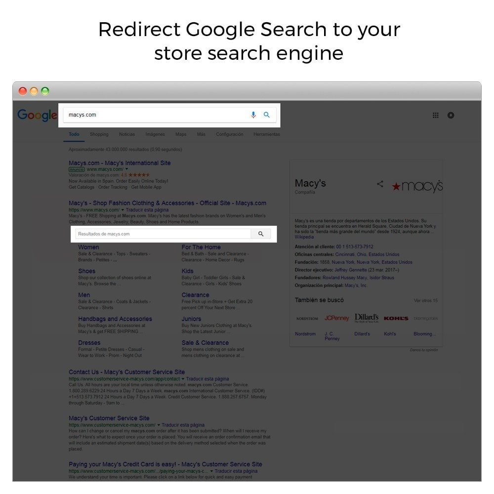 module - SEO (Indicizzazione naturale) - Google Sitelink Searchbox - 2