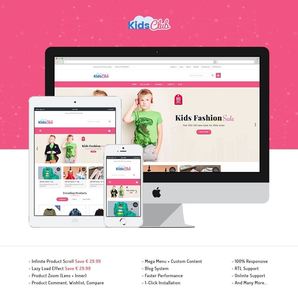theme - Moda & Calzature - Kids Club Fashion Store - 1