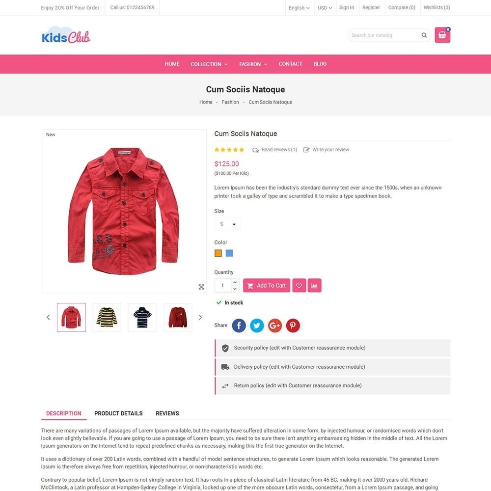theme - Moda & Calzature - Kids Club Fashion Store - 5