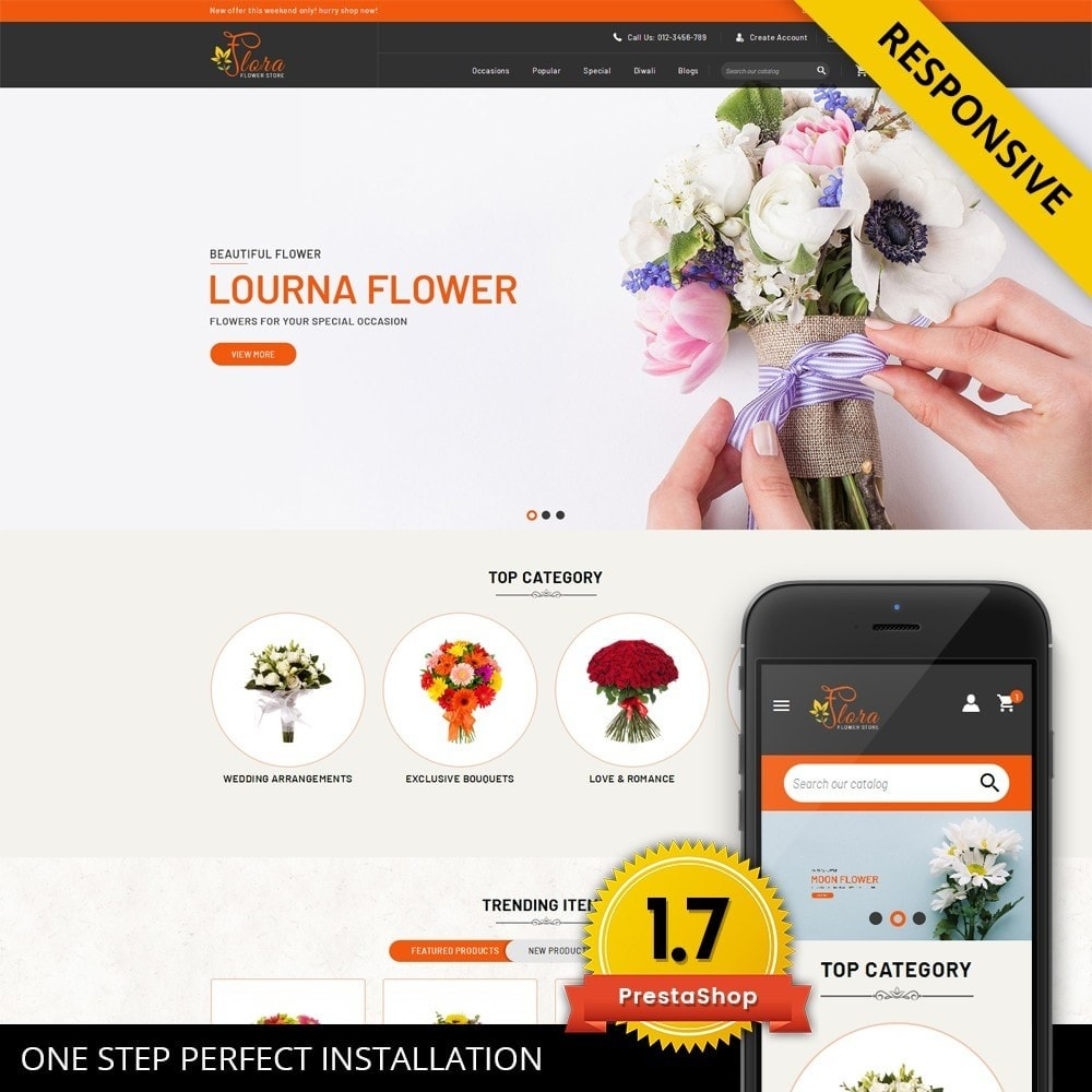 theme - Gifts, Flowers & Celebrations - Flora - Flower Store - 1