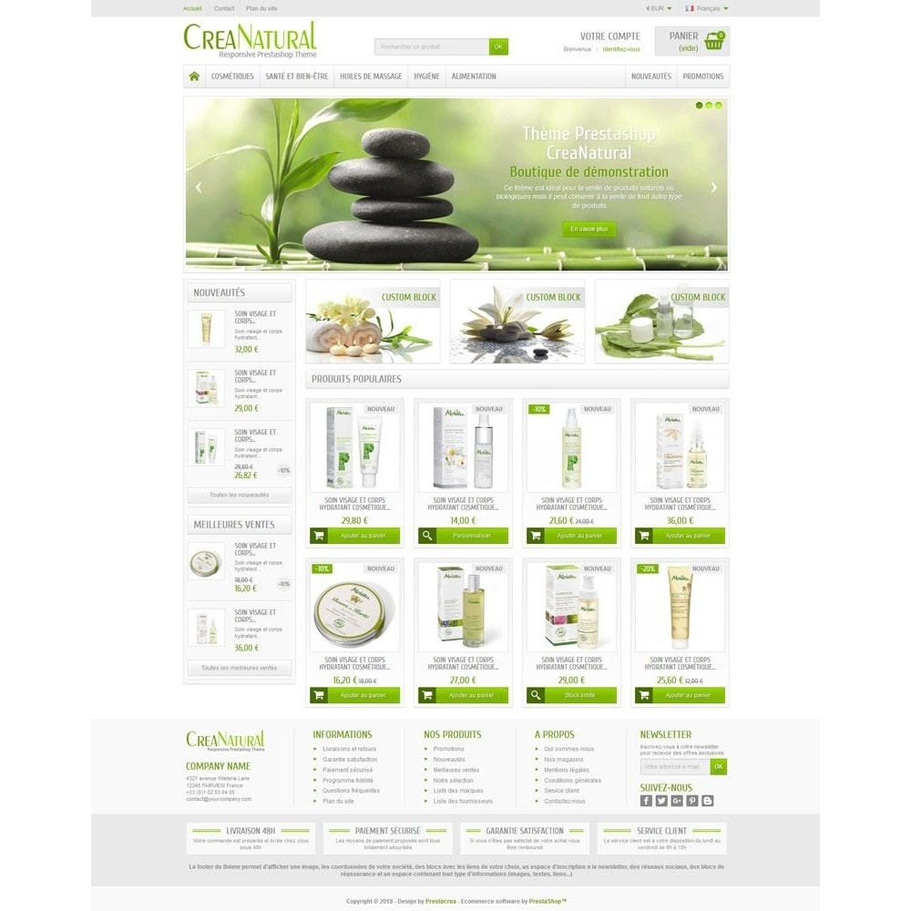 theme - Health & Beauty - CreaNatural - 2