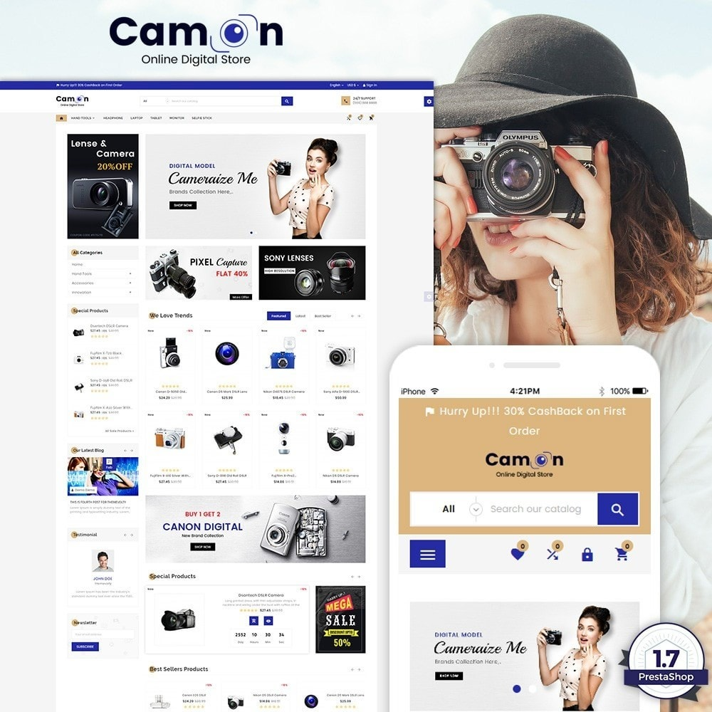 theme - Electronics & Computers - Camon – Electronices Super Store v3 - 1