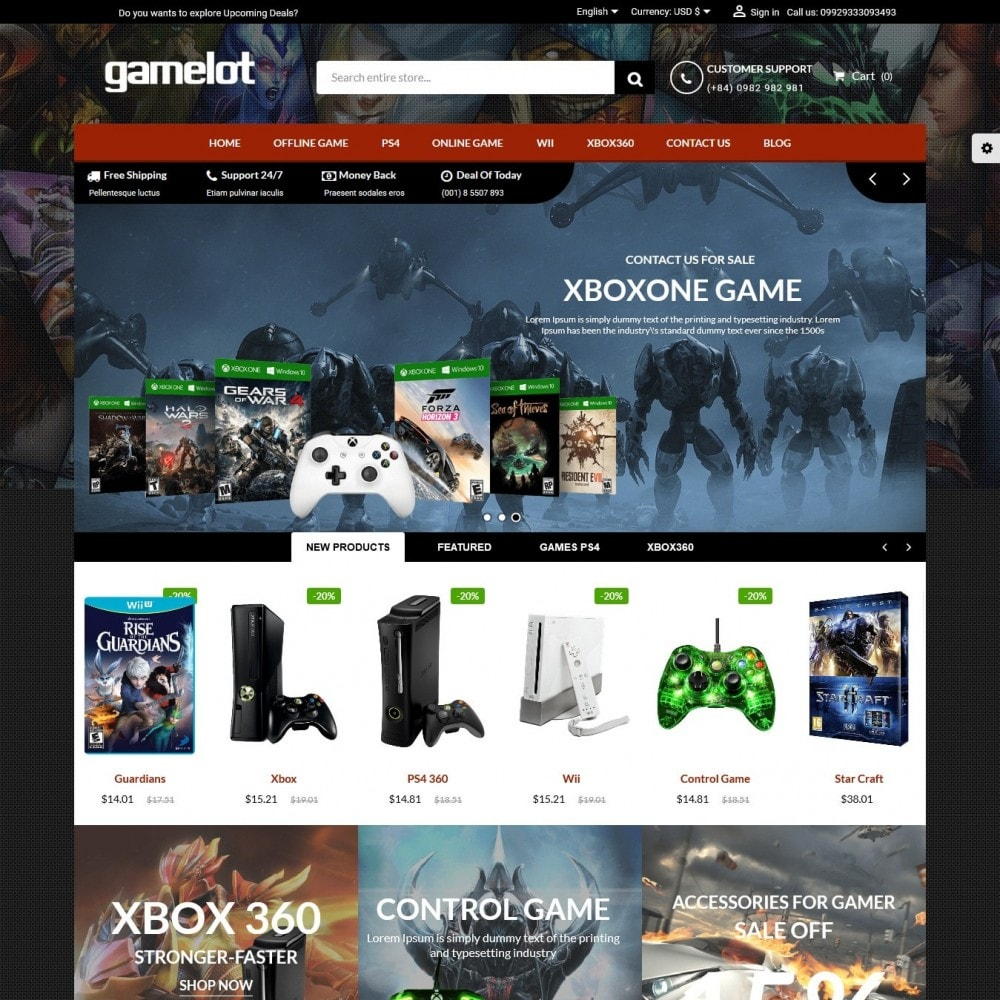 theme - Electronique & High Tech - Games and Movies Store - 1
