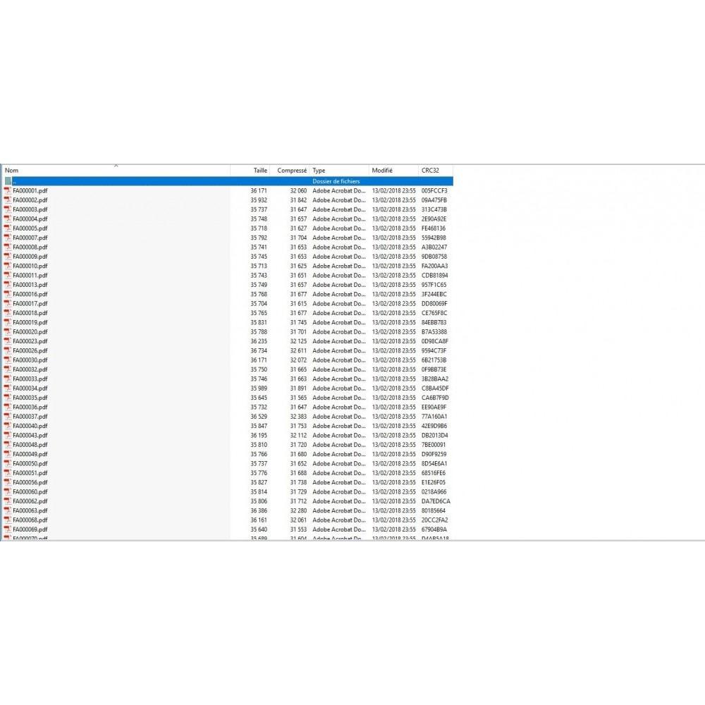 module - Buchhaltung & Rechnung - Exportieren Sie mehrere PDF-Rechnungen im ZIP-Archiv - 2