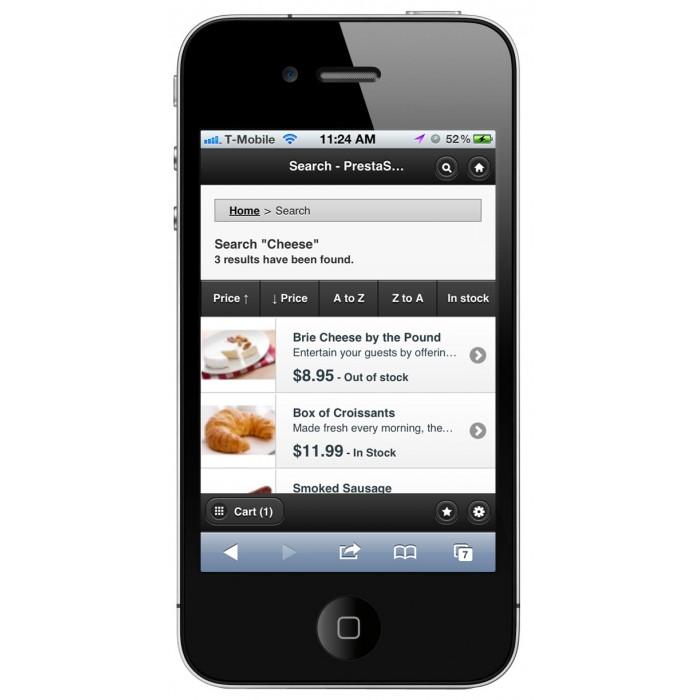 module - Mobile - PrestaShop Mobile Template - 8