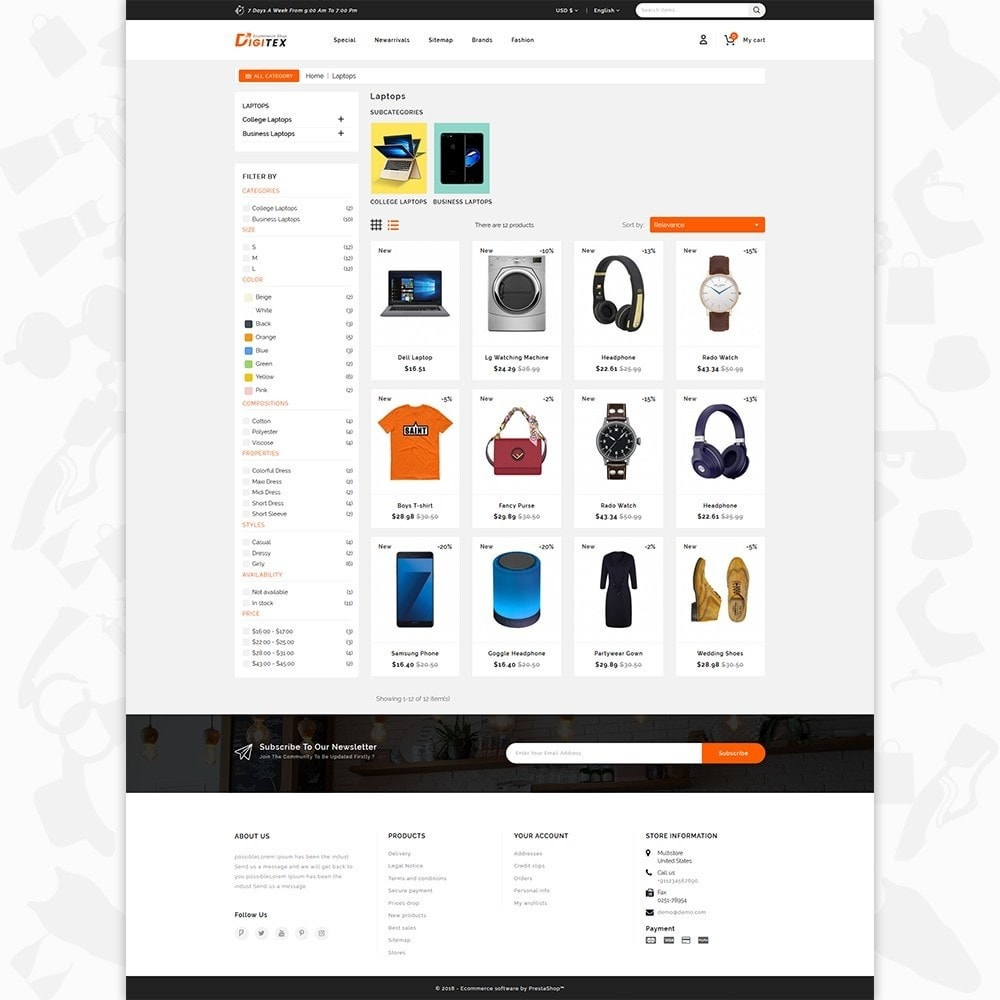 theme - Electronique & High Tech - Digitex - The Ecommerce Shop - 3