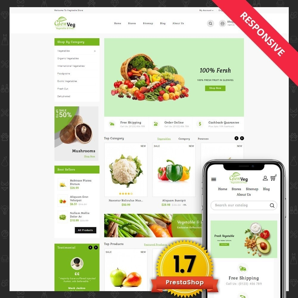 theme - Alimentation & Restauration - Glen Veg Store - 1