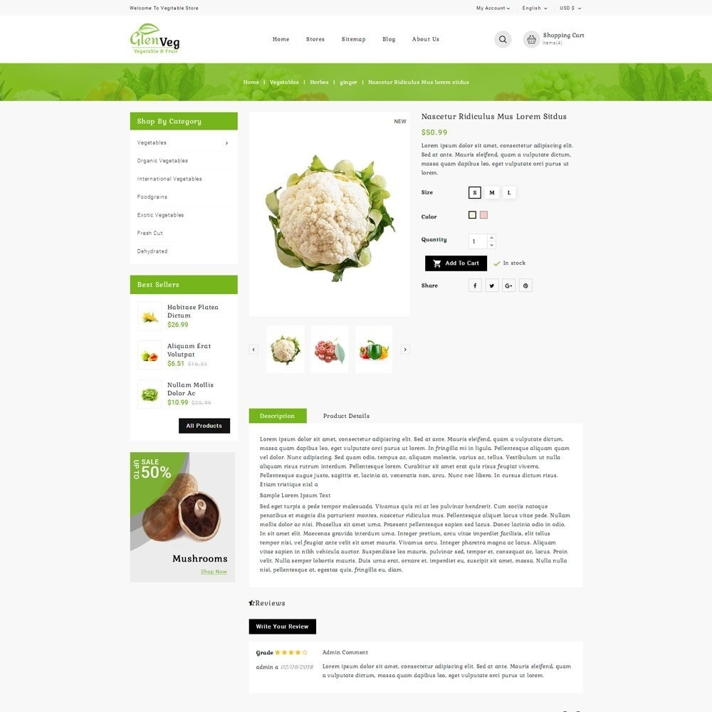 theme - Alimentation & Restauration - Glen Veg Store - 5
