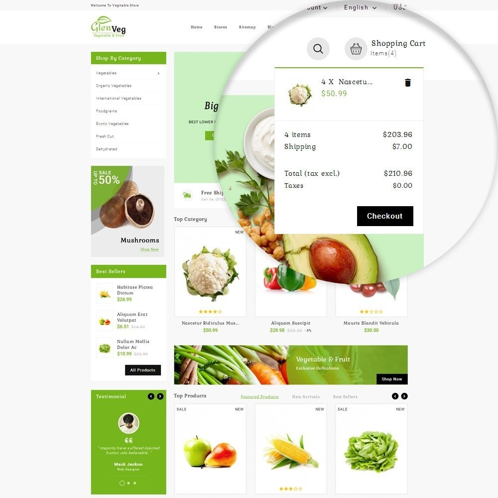 theme - Alimentation & Restauration - Glen Veg Store - 10