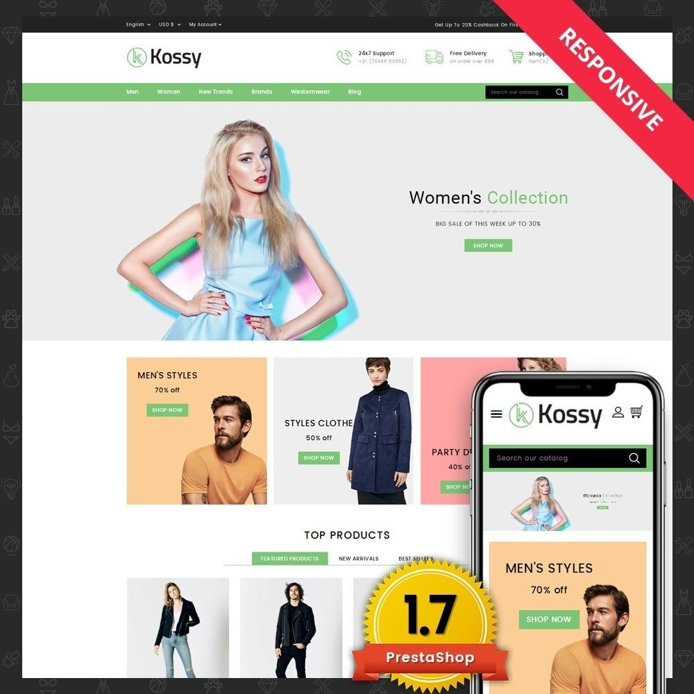 theme - Mode & Schuhe - Kossy - Fashion Store - 1