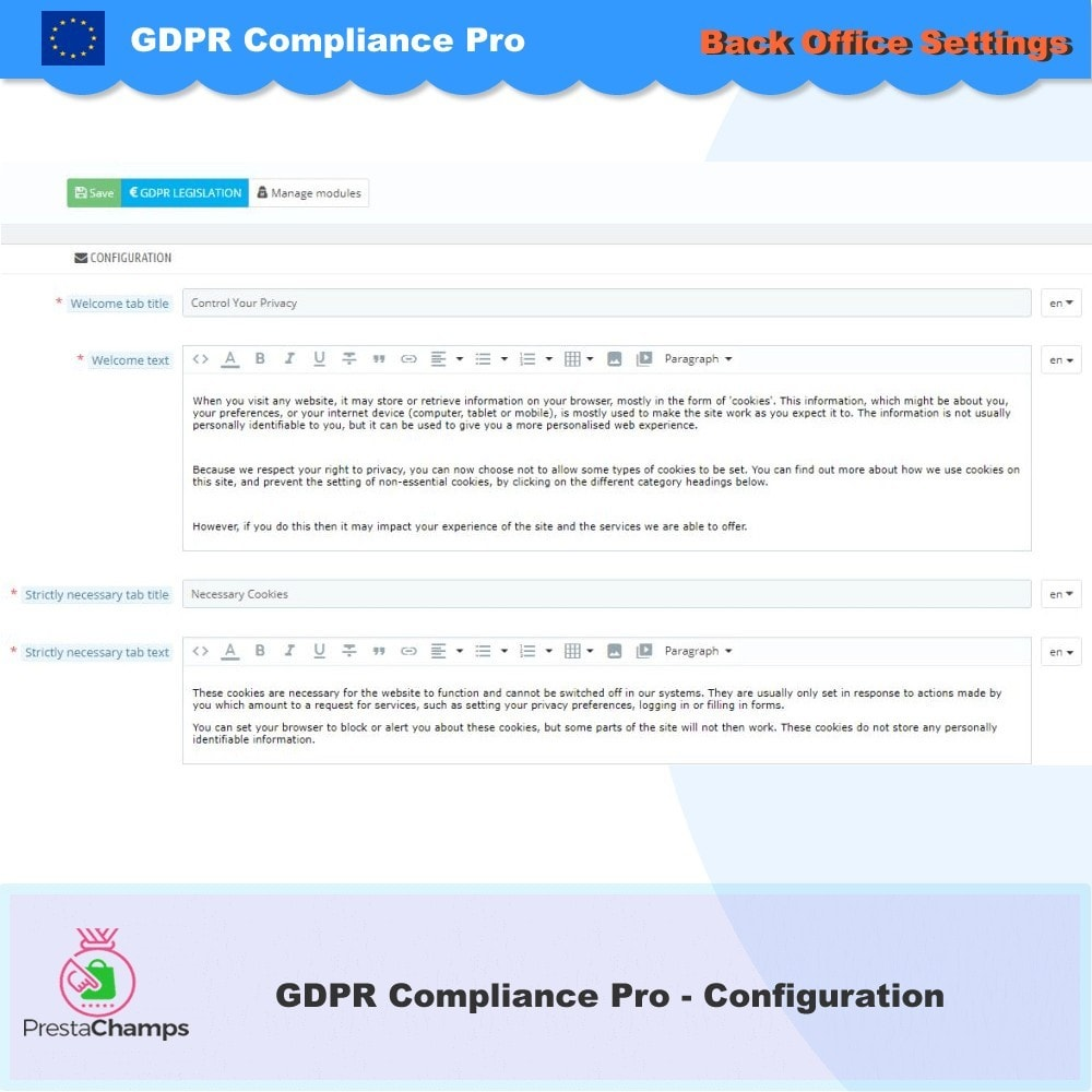 module - Администрация - GDPR Compliance Pro - 2020 Enhanced Edition - 26